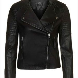 Topshop quilted leather moto jacket
